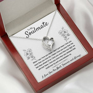 "TO MY SOULMATE ""I LOVE YOU THE MOST"" HEART NECKLACE GIFT SET - ON CLOUD NINE GIFTS"