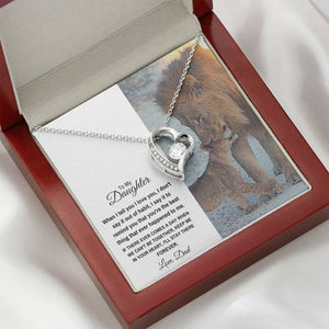 "TO MY DAUGHTER ""STAY THERE FOREVER"" HEART NECKLACE GIFT SET - ON CLOUD NINE GIFTS"