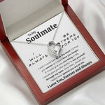 "TO MY SOULMATE ""THERE FOR YOU - MY EYES"" HEART NECKLACE GIFT SET - ON CLOUD NINE GIFTS"