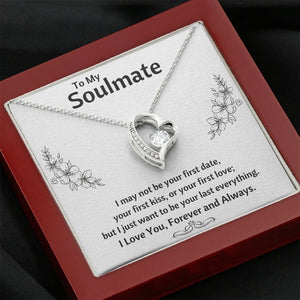 "TO MY SOULMATE ""LAST EVERYTHING - FLOWERS"" HEART NECKLACE GIFT SET - ON CLOUD NINE GIFTS"