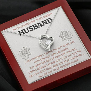 "TO MY HUSBAND ""LIFE"" REMEMBRANCE HEART NECKLACE GIFT SET - ON CLOUD NINE GIFTS"