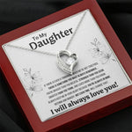 "TO MY DAUGHTER ""NOT EVEN TIME"" HEART NECKLACE ANNIVERSARY GIFT SET - ON CLOUD NINE GIFTS"