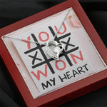 "TO MY LOVE ""TIC TAC TOE"" HEART NECKLACE VALENTINES DAY GIFT SET - ON CLOUD NINE GIFTS"