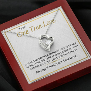 "TO MY ONE TRUE LOVE ""SICKEST PART OF YOU"" HEART NECKLACE GIFT SET - ON CLOUD NINE GIFTS"