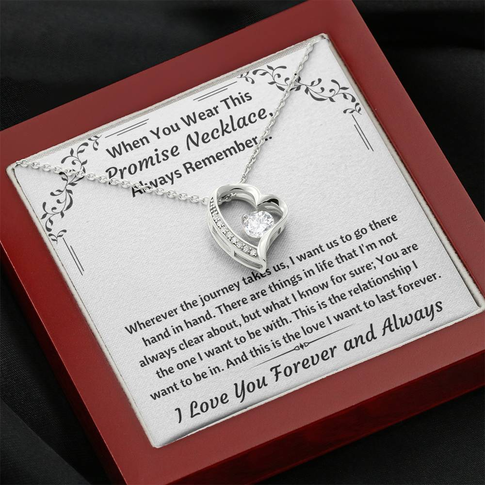 "TO MY LOVE ""PROMISE NECKLACE"" HEART NECKLACE GIFT SET - ON CLOUD NINE GIFTS"