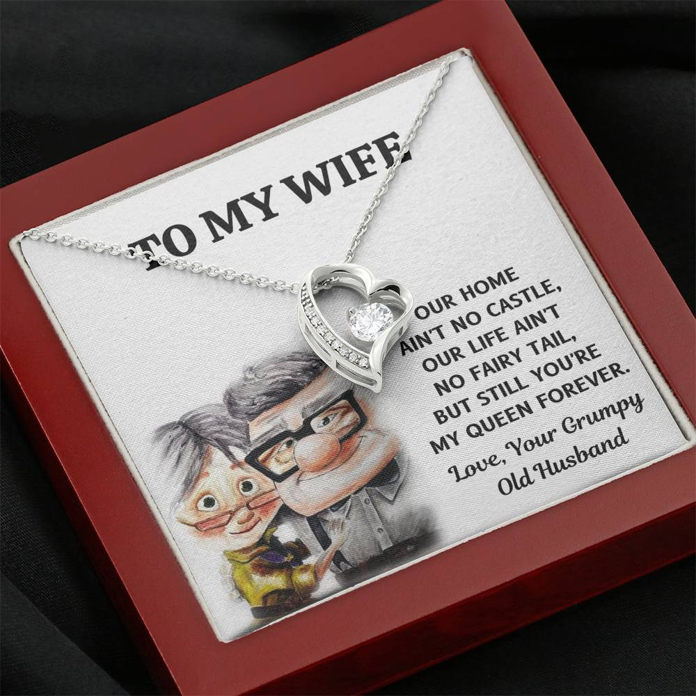 "TO MY WIFE ""CASTLE - UP"" HEART NECKLACE GIFT SET - ON CLOUD NINE GIFTS"