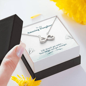 "TO MY AMAZING DAUGHTER ""WINGS"" INFINITY NECKLACE GIFT SET - ON CLOUD NINE GIFTS"