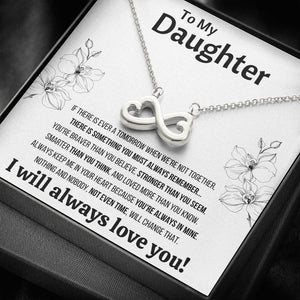 "TO MY DAUGHTER ""NOT EVEN TIME"" INFINITY NECKLACE GIFT SET - ON CLOUD NINE GIFTS"