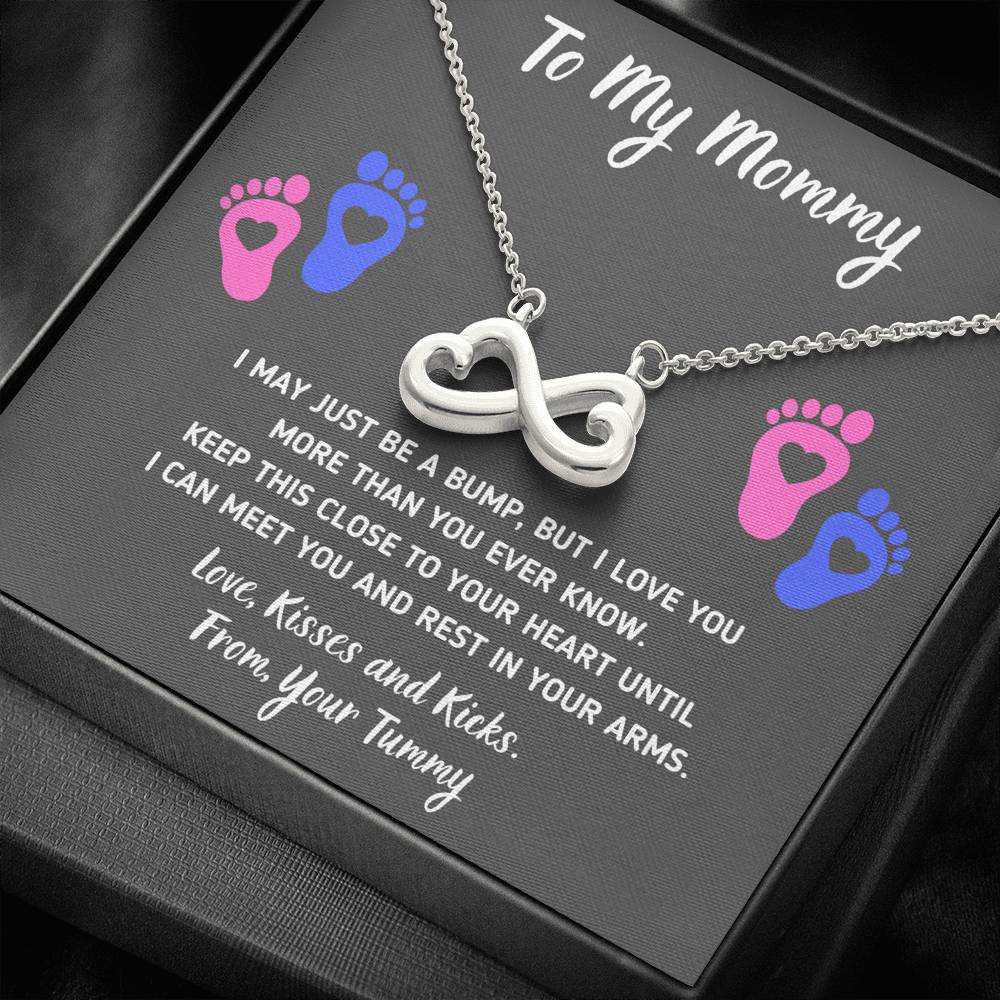 "TO MY MOMMY ""HEART-FEET"" INFINITY NECKLACE GIFT SET - ON CLOUD NINE GIFTS"
