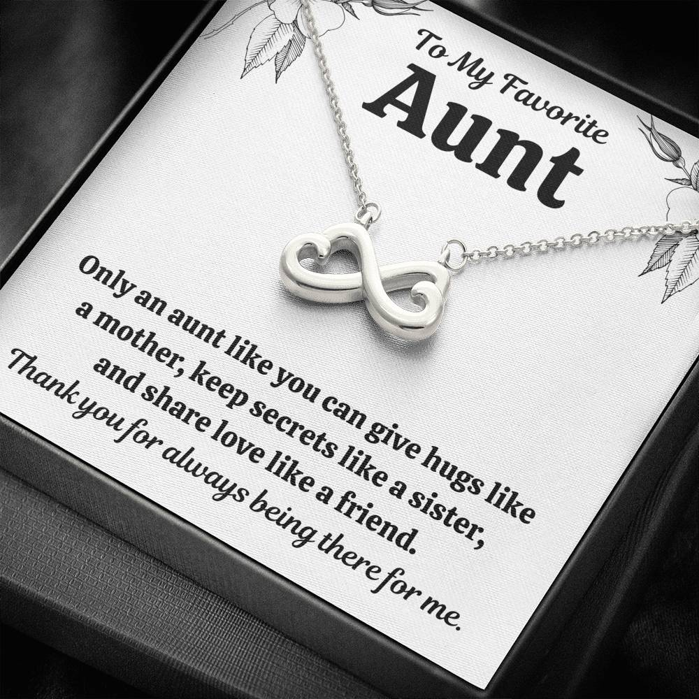 "TO MY FAV AUNT ""LIKE"" INFINITY NECKLACE GIFT SET - ON CLOUD NINE GIFTS"