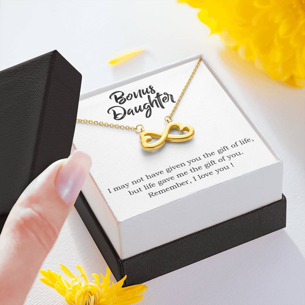 "BONUS DAUGHTER ""THE GIFT OF YOU"" INFINITY NECKLACE GIFT SET - ON CLOUD NINE GIFTS"