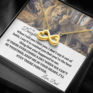 "TO MY DAUGHTER ""OUT OF HABIT - LION"" INFINITY NECKLACE GIFT SET - ON CLOUD NINE GIFTS"