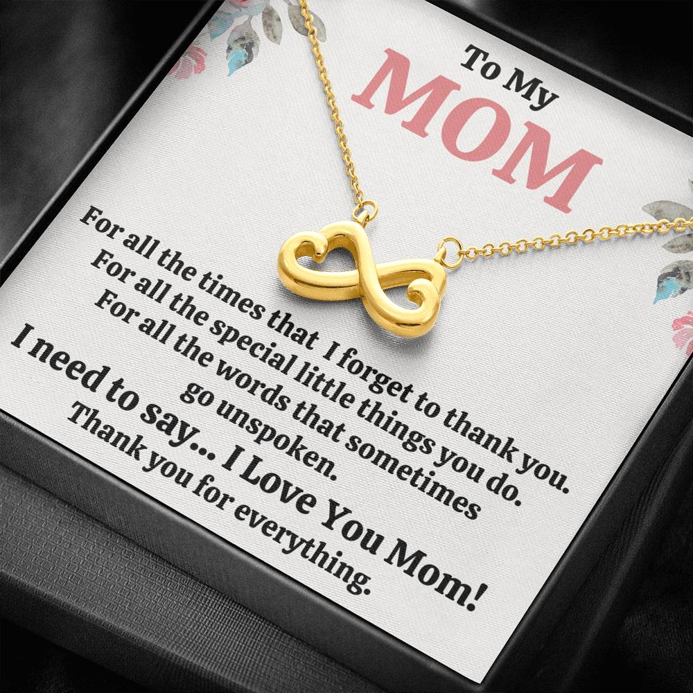 "TO MY MOM ""FOR ALL"" INFINITY NECKLACE GIFT SET - ON CLOUD NINE GIFTS"