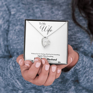 "TO MY WIFE ""EVERYTHING - SO"" FOREVER LOVE NECKLACE GIFT SET - ON CLOUD NINE GIFTS"