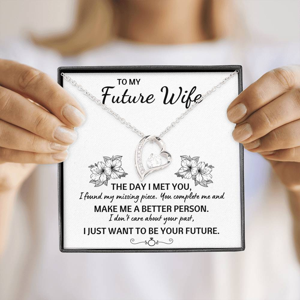 "TO MY FUTURE WIFE ""YOUR FUTURE"" FOREVER LOVE NECKLACE GIFT SET - ON CLOUD NINE GIFTS"