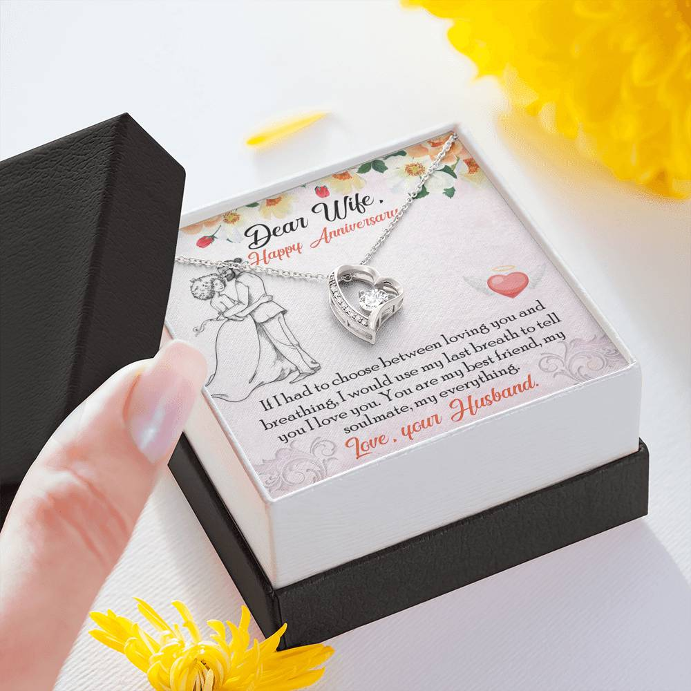 "DEAR WIFE ""BREATHING"" FOREVER LOVE NECKLACE ANNIVERSARY GIFT SET - ON CLOUD NINE GIFTS"