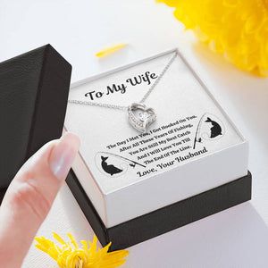 "TO MY WIFE ""FISHING"" FOREVER LOVE NECKLACE GIFT SET - ON CLOUD NINE GIFTS"