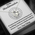 "TO MY SHIELDMAIDEN ""BREATHING"" FOREVER LOVE HEART NECKLACE GIFT SET - ON CLOUD NINE GIFTS"