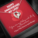 "TO MY LOVE ""TOMORROW"" FOREVER LOVE NECKLACE ANNIVERSARY GIFT SET - ON CLOUD NINE GIFTS"