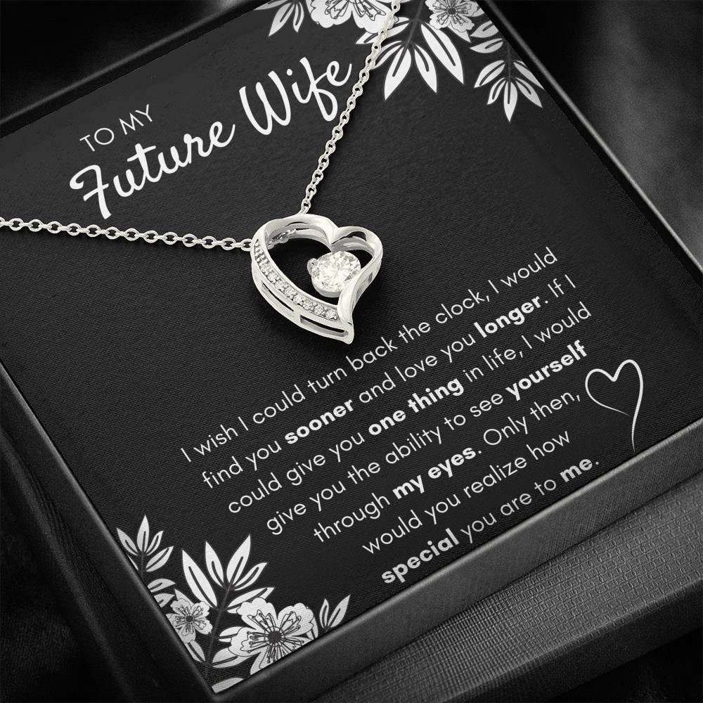 "TO MY FUTURE WIFE ""FIND YOU SOONER"" FOREVER LOVE NECKLACE GIFT SET - ON CLOUD NINE GIFTS"
