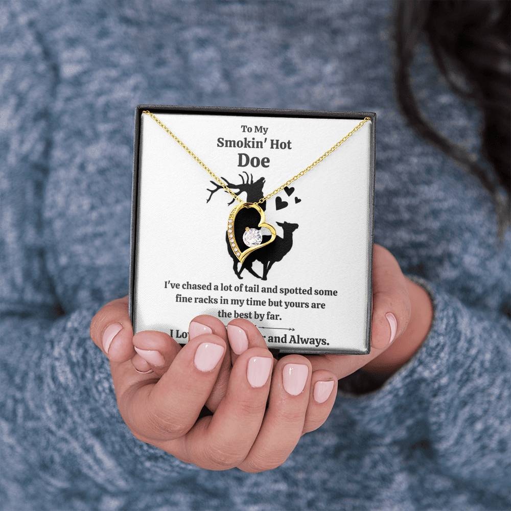 "TO MY SMOKIN HOT DOE ""TAIL"" FOREVER LOVE NECKLACE GIFT SET - ON CLOUD NINE GIFTS"