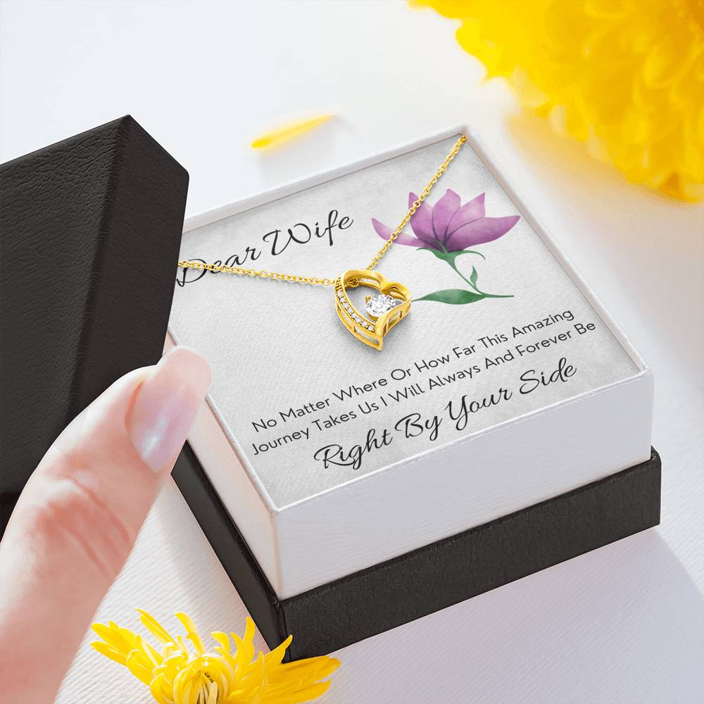 "DEAR WIFE ""BY YOUR SIDE"" FOREVER LOVE NECKLACE GIFT SET - ON CLOUD NINE GIFTS"