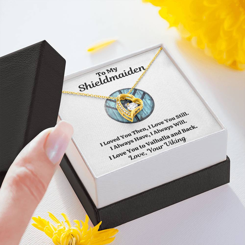 "TO MY SHIELDMAIDEN ""ALWAYS WILL - BLUE"" FOREVER LOVE NECKLACE GIFT SET - ON CLOUD NINE GIFTS"