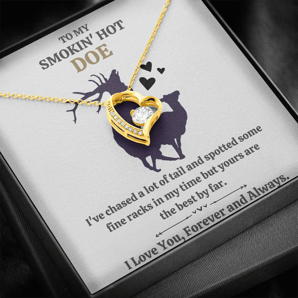 "TO MY SMOKIN HOT DOE ""TAIL - GOLDEN"" FOREVER LOVE NECKLACE GIFT SET - ON CLOUD NINE GIFTS"