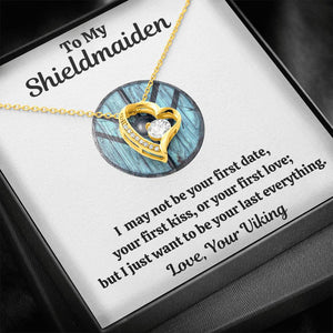 "TO MY SHIELDMAIDEN ""LAST EVERYTHING - BLUE"" FOREVER LOVE NECKLACE GIFT SET - ON CLOUD NINE GIFTS"