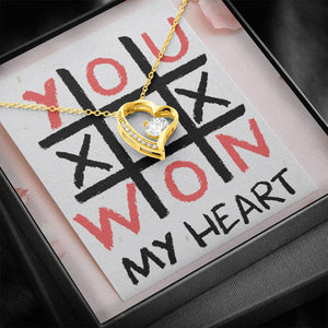 "TO MY LOVE ""TIC TAC TOE"" FOREVER LOVE NECKLACE VALENTINES DAY GIFT SET - ON CLOUD NINE GIFTS"
