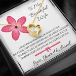 "TO MY BEAUTIFUL WIFE ""EVERY SECOND"" FOREVER LOVE NECKLACE GIFT SET - ON CLOUD NINE GIFTS"