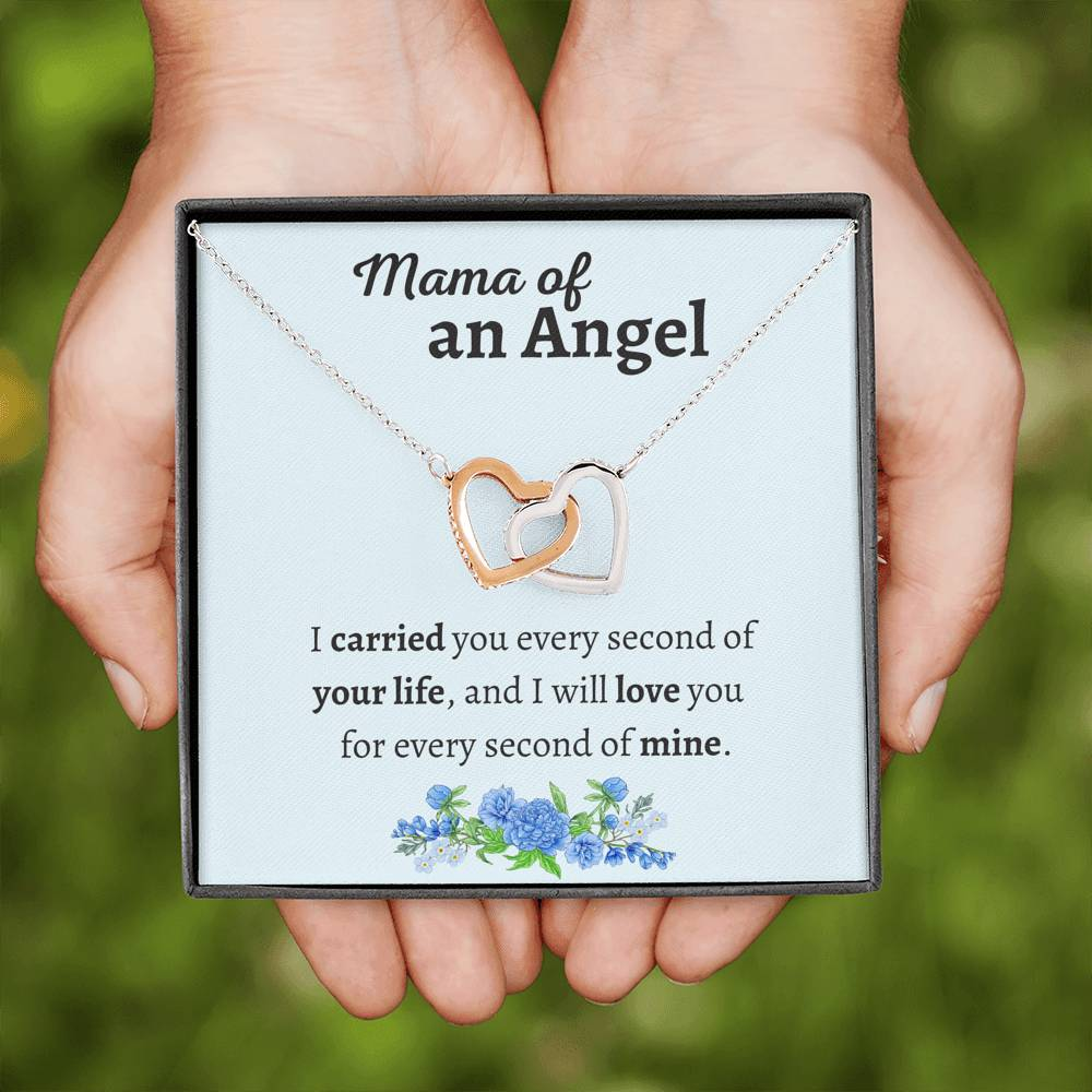 MAMA OF ANGEL INTERLOCKING NECKLACE GIFT SET - ON CLOUD NINE GIFTS