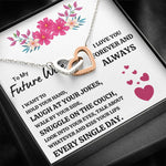"TO MY FUTURE WIFE ""EVERY SINGLE DAY"" INTERLOCKING HEARTS NECKLACE GIFT SET - ON CLOUD NINE GIFTS"