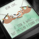 "DEAR LOVE ""A WHILE"" INTERLOCKING HEARTS NECKLACE GIFT SET - ON CLOUD NINE GIFTS"