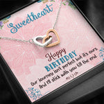 "TO MY SWEETHEART ""OUR JOURNEY"" INTERLOCKING HEARTS NECKLACE BIRTHDAY GIFT SET - ON CLOUD NINE GIFTS"