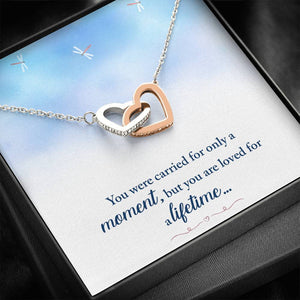 "REMEMBRANCE ""LOVED FOR A LIFETIME"" INTERLOCKING HEARTS NECKLACE GIFT SET - ON CLOUD NINE GIFTS"