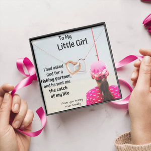 TO MY LITTLE GIRL FISHING PARTNER INTERLOCKING NECKLACE - ON CLOUD NINE GIFTS