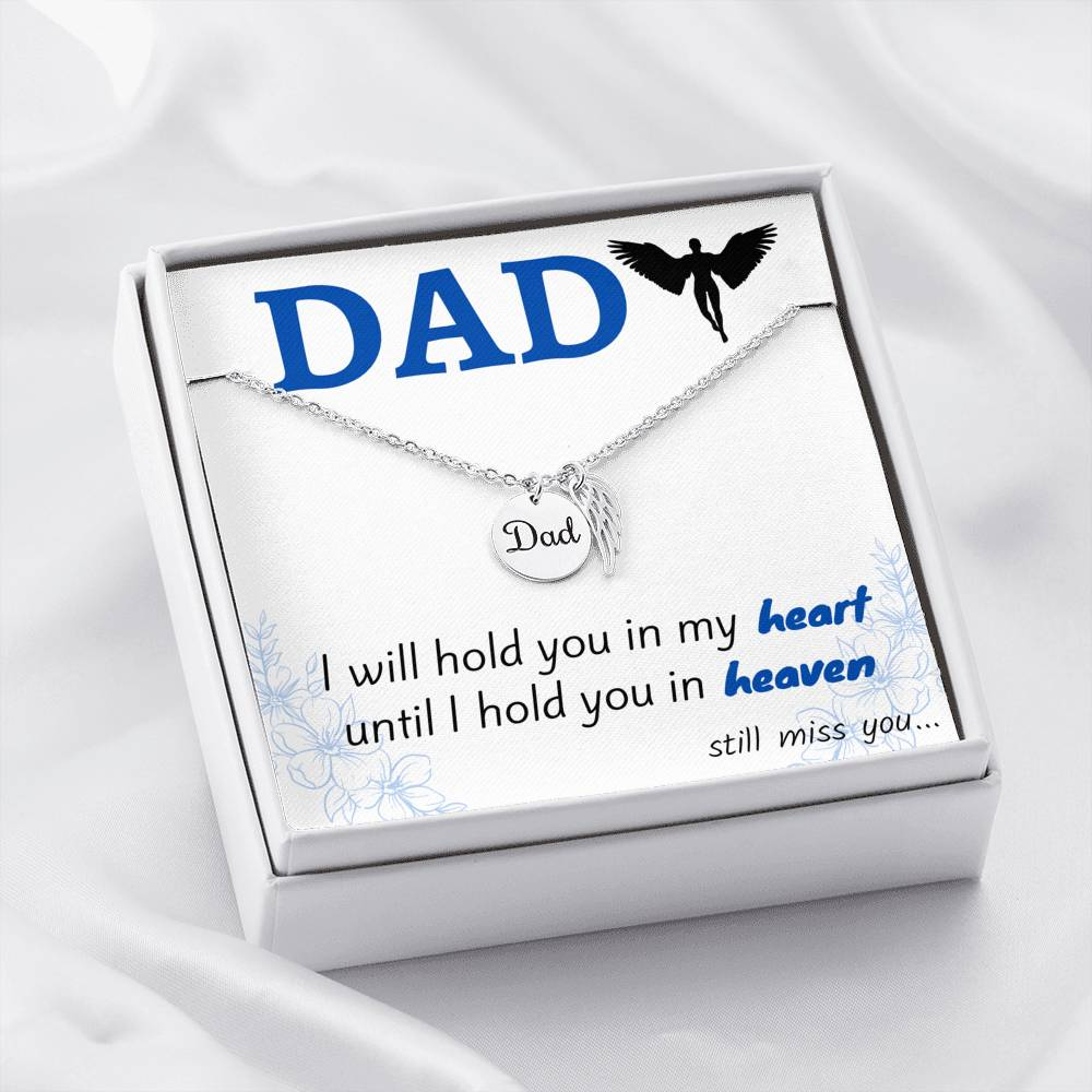 MEMORIAL DAD NECKLACE | MESSAGE CARD | GIFT BOX - ON CLOUD NINE GIFTS