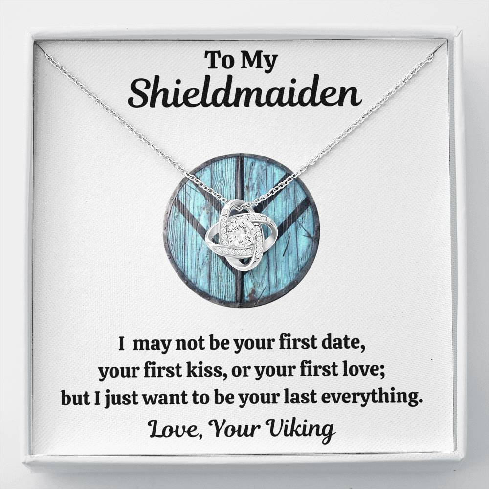 "TO MY SHIELDMAIDEN ""LAST EVERYTHING - BLUE"" LOVE KNOT NECKLACE GIFT SET - ON CLOUD NINE GIFTS"
