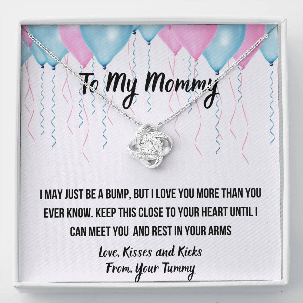 "TO MY MOMMY ""CELEBRATION"" LOVE KNOT NECKLACE GIFT SET - ON CLOUD NINE GIFTS"
