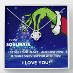 "TO MY SOULMATE ""THREE SIZES HAPPIER - TREE"" LOVE KNOT NECKLACE GIFT SET - ON CLOUD NINE GIFTS"