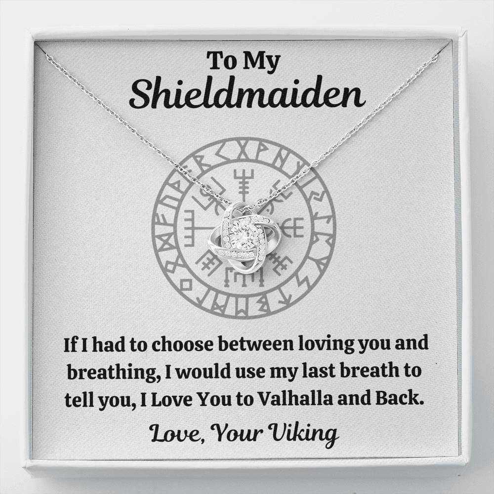 "TO MY SHIELDMAIDEN ""BREATHING"" LOVE KNOT NECKLACE GIFT SET - ON CLOUD NINE GIFTS"