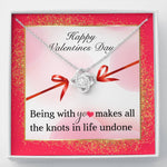 "TO MY LOVE ""KNOTS"" LOVE KNOT NECKLACE VALENTINES DAY GIFT SET - ON CLOUD NINE GIFTS"