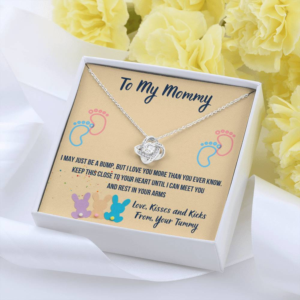 "TO MY MOMMY ""CUTE BUNNIES"" LOVE KNOT NECKLACE GIFT SET - ON CLOUD NINE GIFTS"