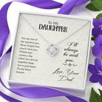 "TO MY DAUGHTER ""GREATEST JOYS"" LOVE KNOT NECKLACE GIFT SET - ON CLOUD NINE GIFTS"