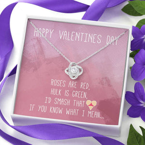 "TO MY LOVE ""BUTT"" LOVE KNOT NECKLACE VALENTINES DAY GIFT SET - ON CLOUD NINE GIFTS"