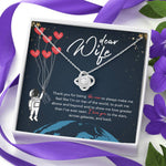 "DEAR WIFE ""STARS"" LOVE KNOT NECKLACE GIFT SET - ON CLOUD NINE GIFTS"