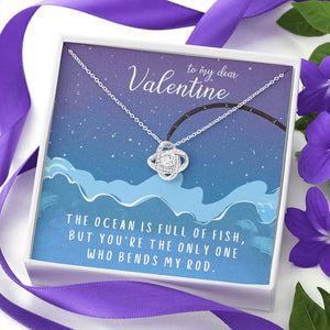 "TO MY DEAR VALENTINE ""FISH"" LOVE KNOT NECKLACE VALENTINES DAY GIFT SET - ON CLOUD NINE GIFTS"