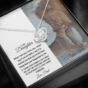 "TO MY DAUGHTER ""STAY THERE FOREVER"" LOVE KNOT NECKLACE GIFT SET - ON CLOUD NINE GIFTS"