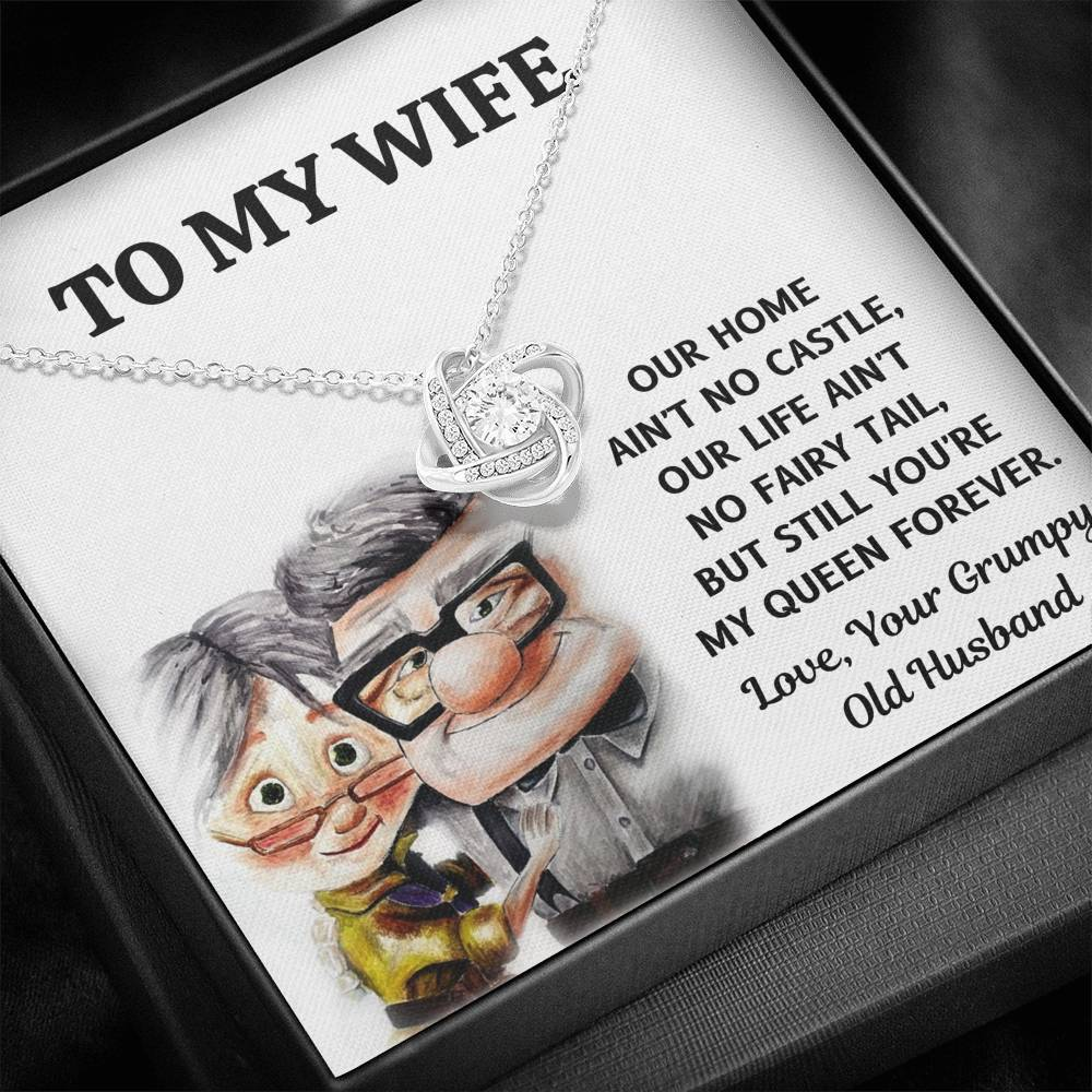 "TO MY WIFE ""CASTLE - UP"" LOVE KNOT NECKLACE GIFT SET - ON CLOUD NINE GIFTS"